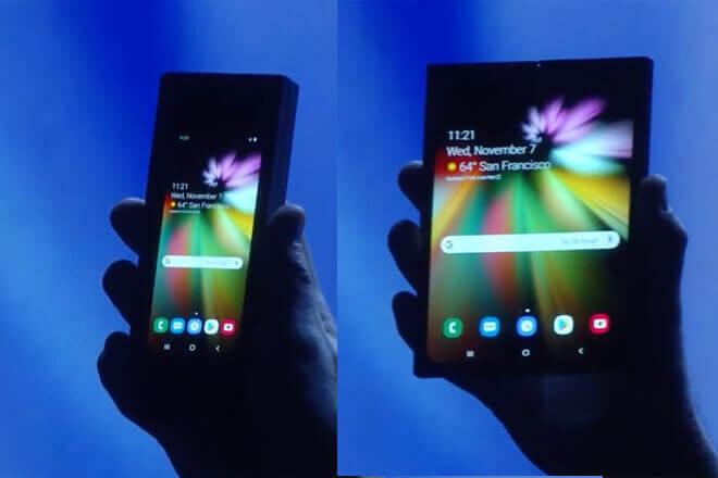 Samsung Infinity Flex, el concepto de móvil plegable de Samsung