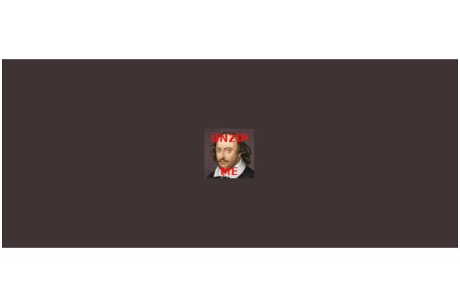 Comprimen en esta pequeña imagen de Twitter toda la obra de Shakespeare