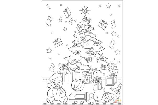 libros de árboles de Navidad para imprimir