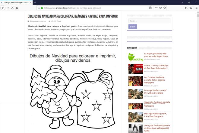 En la web gratistodo.com podrás conseguir dibujos de navidad para colorear