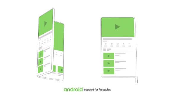 Android para móviles con pantallas plegables