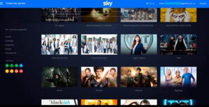 pantalla de Sky