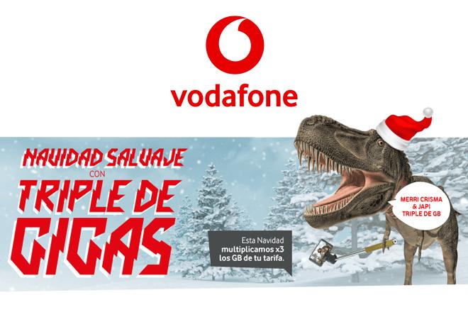 Vodafone regala a los Clientes de Vodafone yu prepago 10 GB extra por Navidad