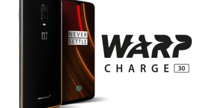 `Tecnología de carga rápida Warp Charge 30, de OnePlus
