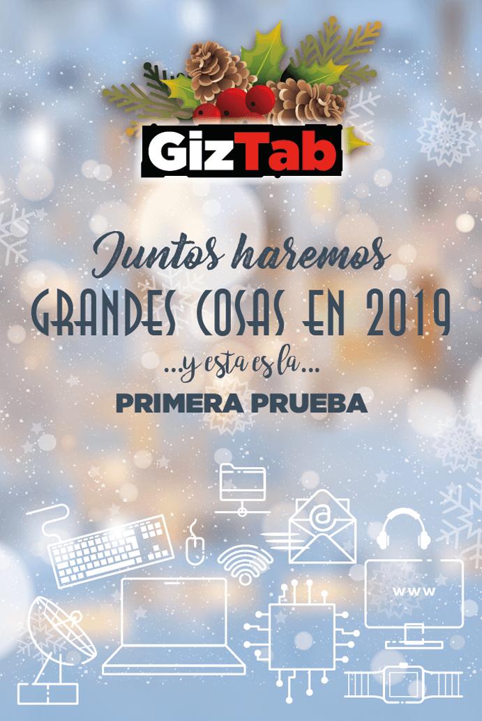 Felicitación o postal de Navidad 2018 gratis de GizTab