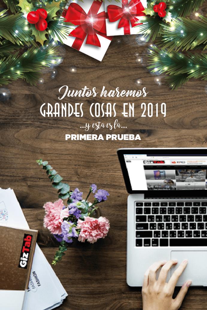 Felicitacion de Navidad 2018 gratis de GizTab