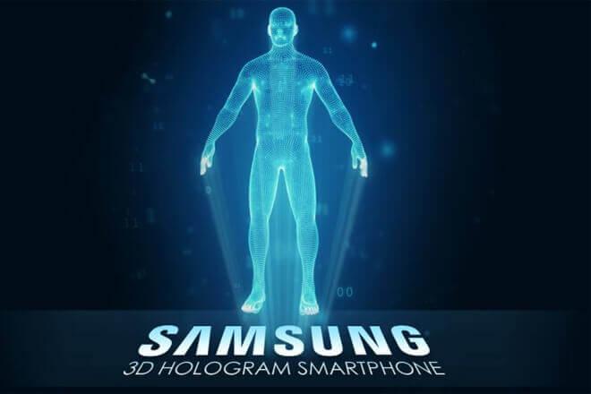 Así es el smartphone holográfico de Samsung