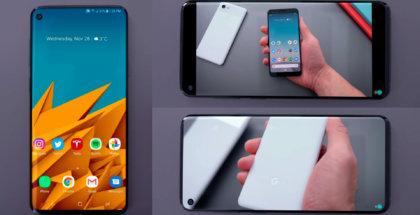 Samsung Galaxy S10 con notch en pantalla frontal