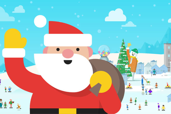 Sigue a Papa Noel o Santa Claus en Google