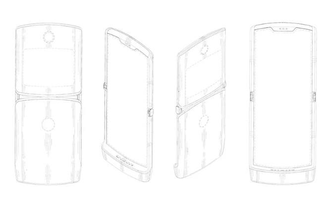 Patente Motorola RAZR plegable
