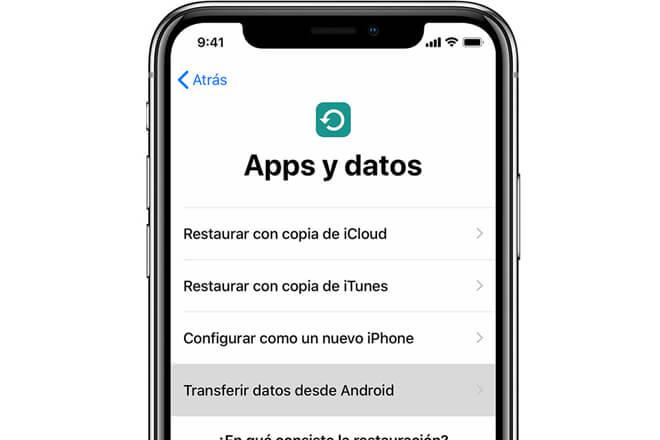 Transferir los datos de un Android a un iPhone