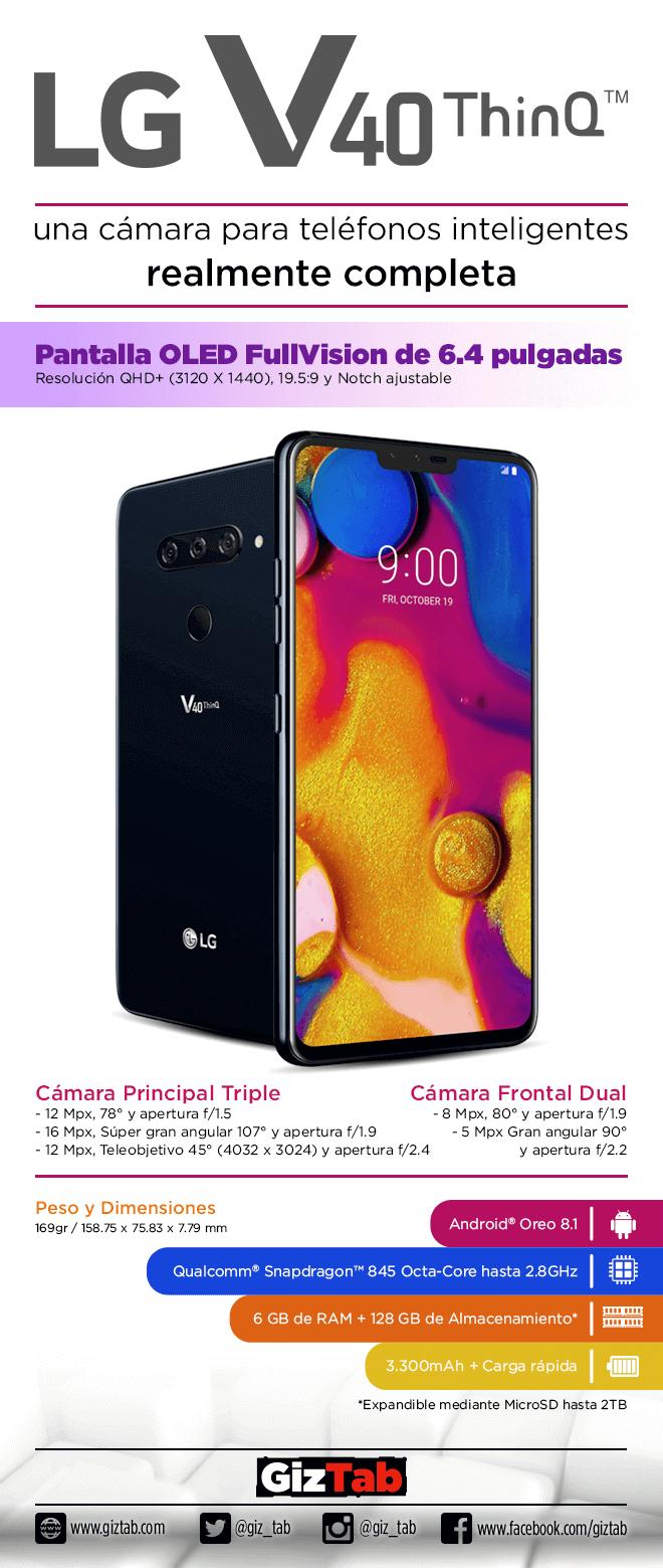 LG V40 Thinq características y especificaciones en detalle