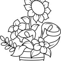 dibujos imprimir y colorear de flores variadas
