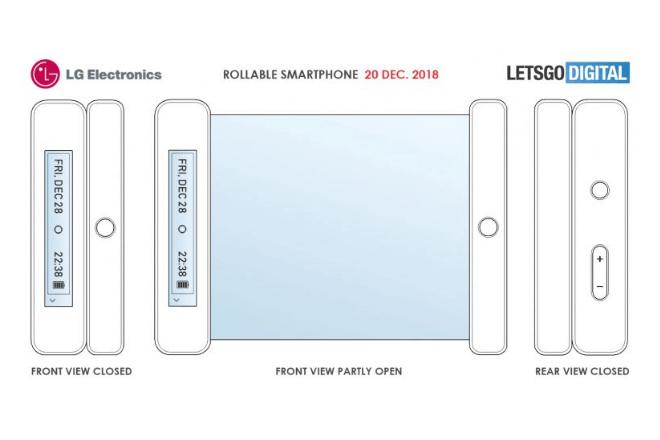 imagen de los planos del móvil enrollable de LG