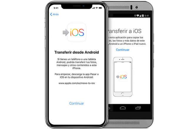 Cómo pasar los datos de un Android a un iPhone
