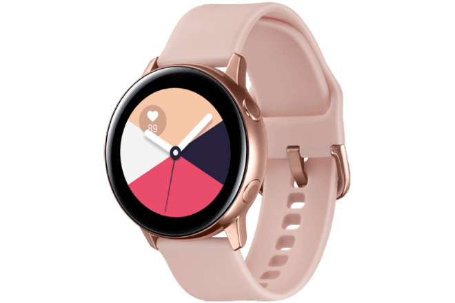 imagen del Galaxy Watch Active color oro rosa