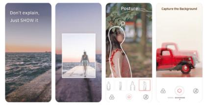 imagen de pantallas de móvil con indicaciones de como tomar fotos