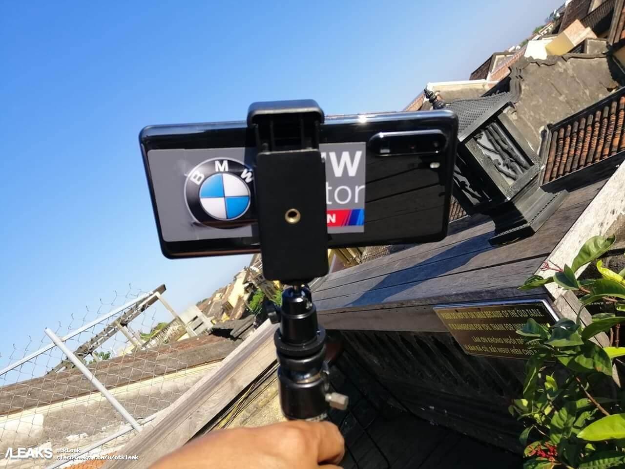 4 lentes traseras se pueden ver en esta foto filtrada del Huawei P30 pro