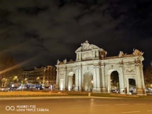 Foto con el Huawei P30 en la noche y zoom x1