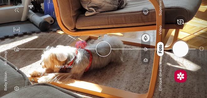 Así es el interfaz de la cámara del Galaxy S10 plus