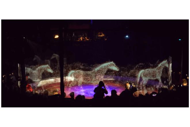 Circo usa hologramas 3D en vez de animales