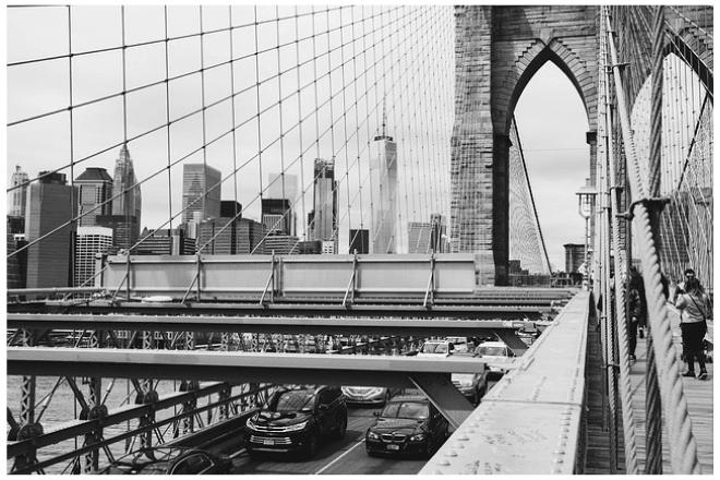 foto del puente de Nueva York