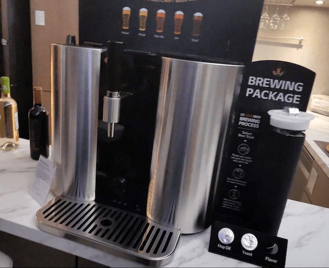La máquina de hacer cerveza de LG