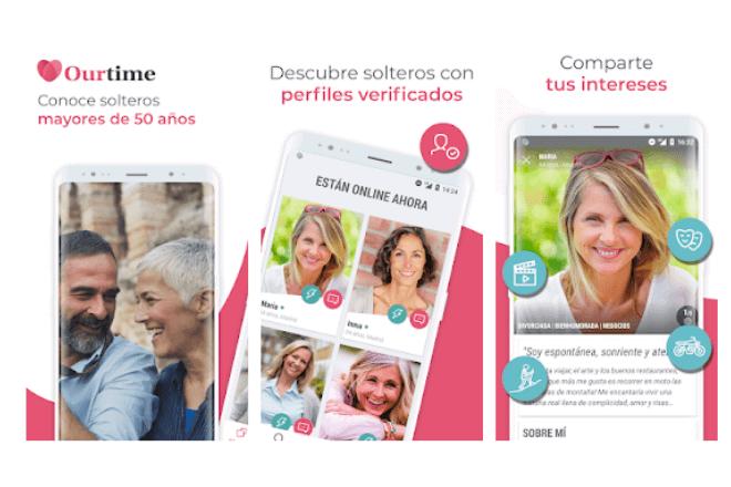 OurTime, opiniones y cómo crear un perfil gratis en la app de citas para mayores de 50 años