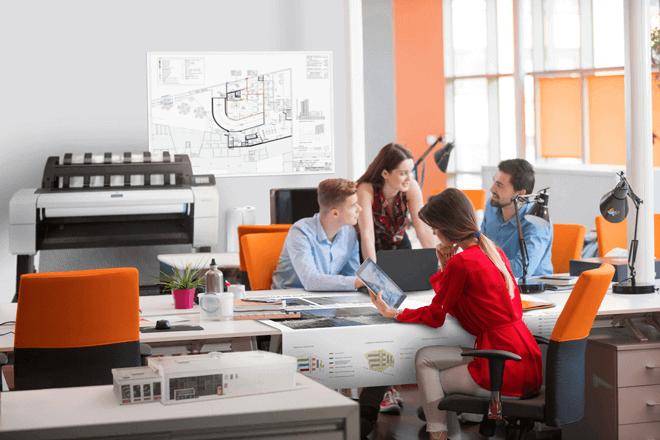 Las impresoras HP DesignJet T1600 y T2600 están diseñadas para la colaboración