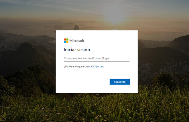 Outlook iniciar sesión