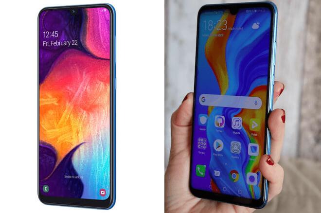 Huawei P30 lite Vs Samsung A50, comparativa y diferencias