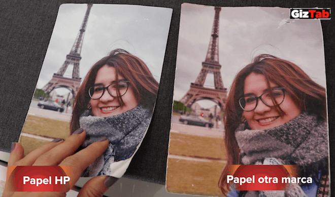 Resultado tras 72h al aire libre. Fotografía impresa con papel HP Vs fotografía impresa en papel de otra marca.