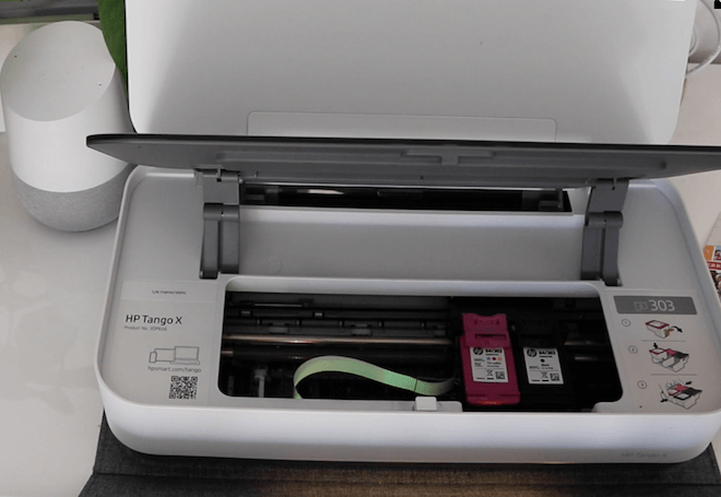 Esta es la impresora HP Tango X usada en esta prueba