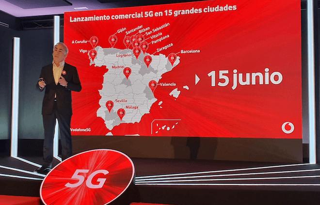 El 5G Vodafone llega a 15 ciudades de España con más del 50% de cobertura
