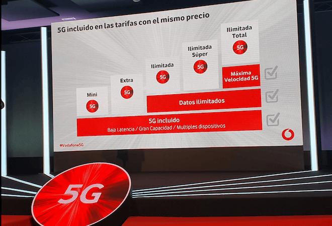 El 5G Vodafone estará disponible en todas las tarifas sin aumento de precio