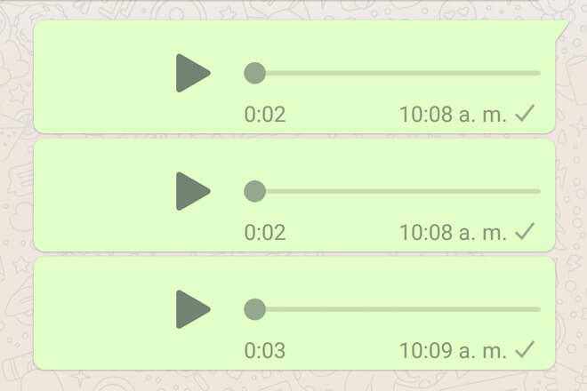 Audios de WhatsApp