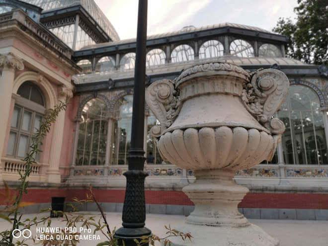 Foto en Modo Apertura con el Huawei P30 Pro en el Parque del Retiro de Madrid