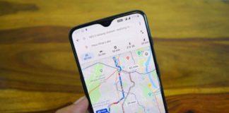 Mapa de Google Maps Offline en un móvil