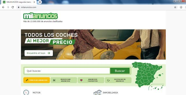 Foto captura de la pagina web Milanuncios