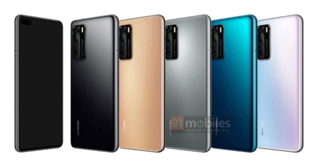 El Huawei P40 en varios colores