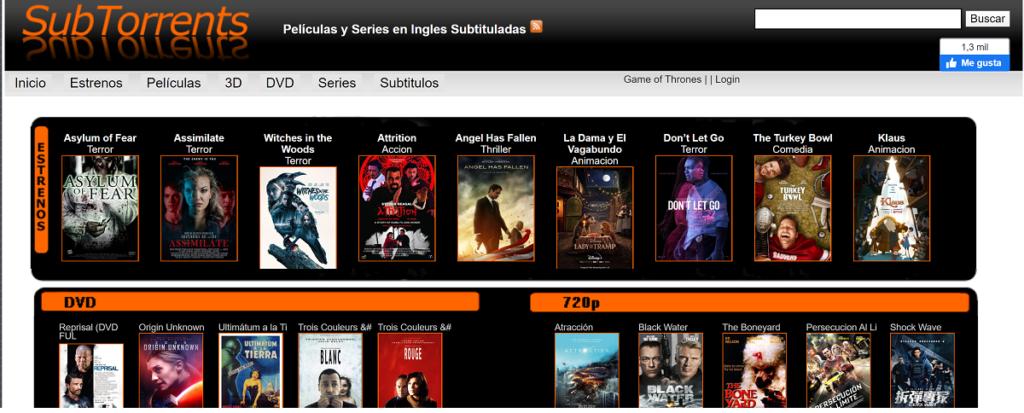 SubTorrents ofrece todo contenido subtitulado.