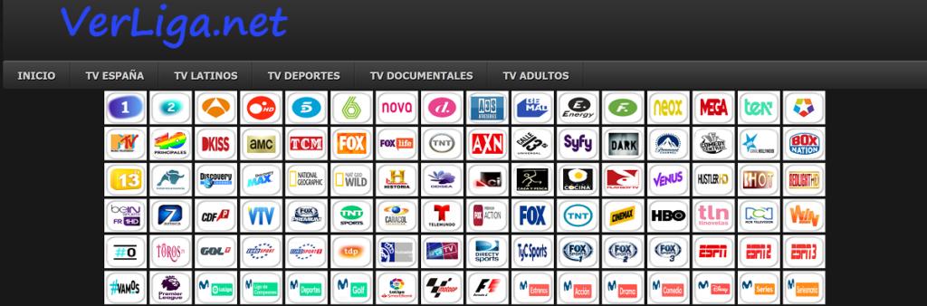 VerLiga es una web para ver televisión online