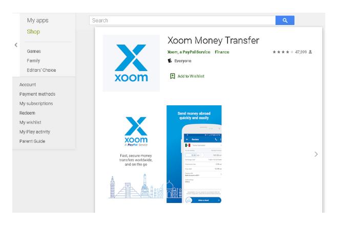 enviar dinero por Xoom