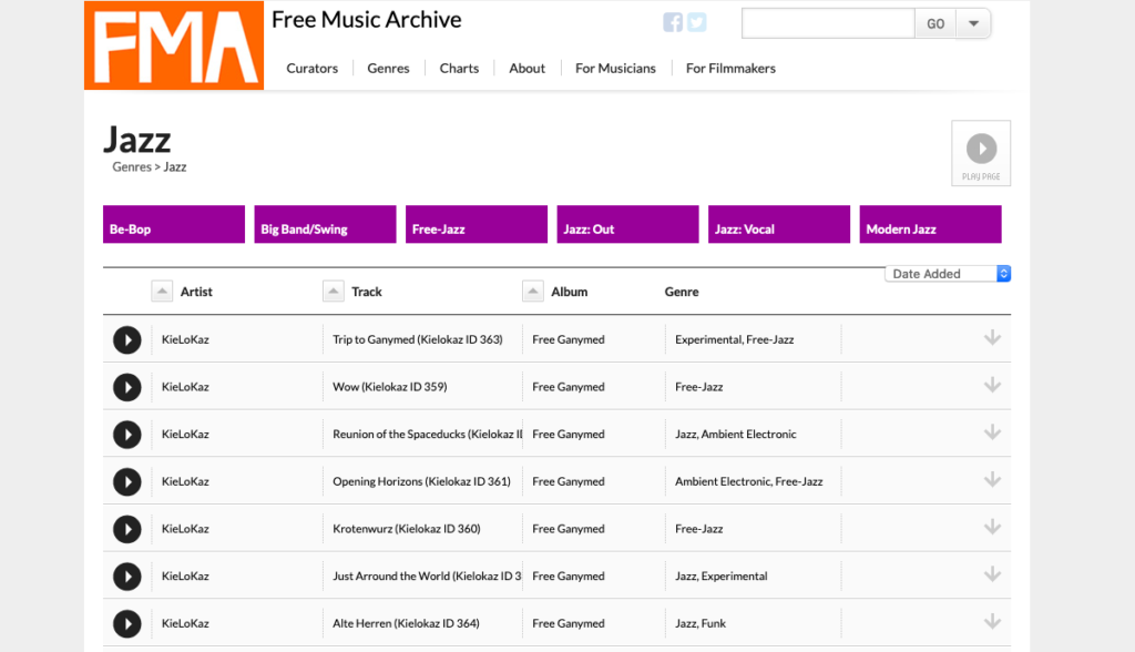 Free Music Archive descargar música gratis