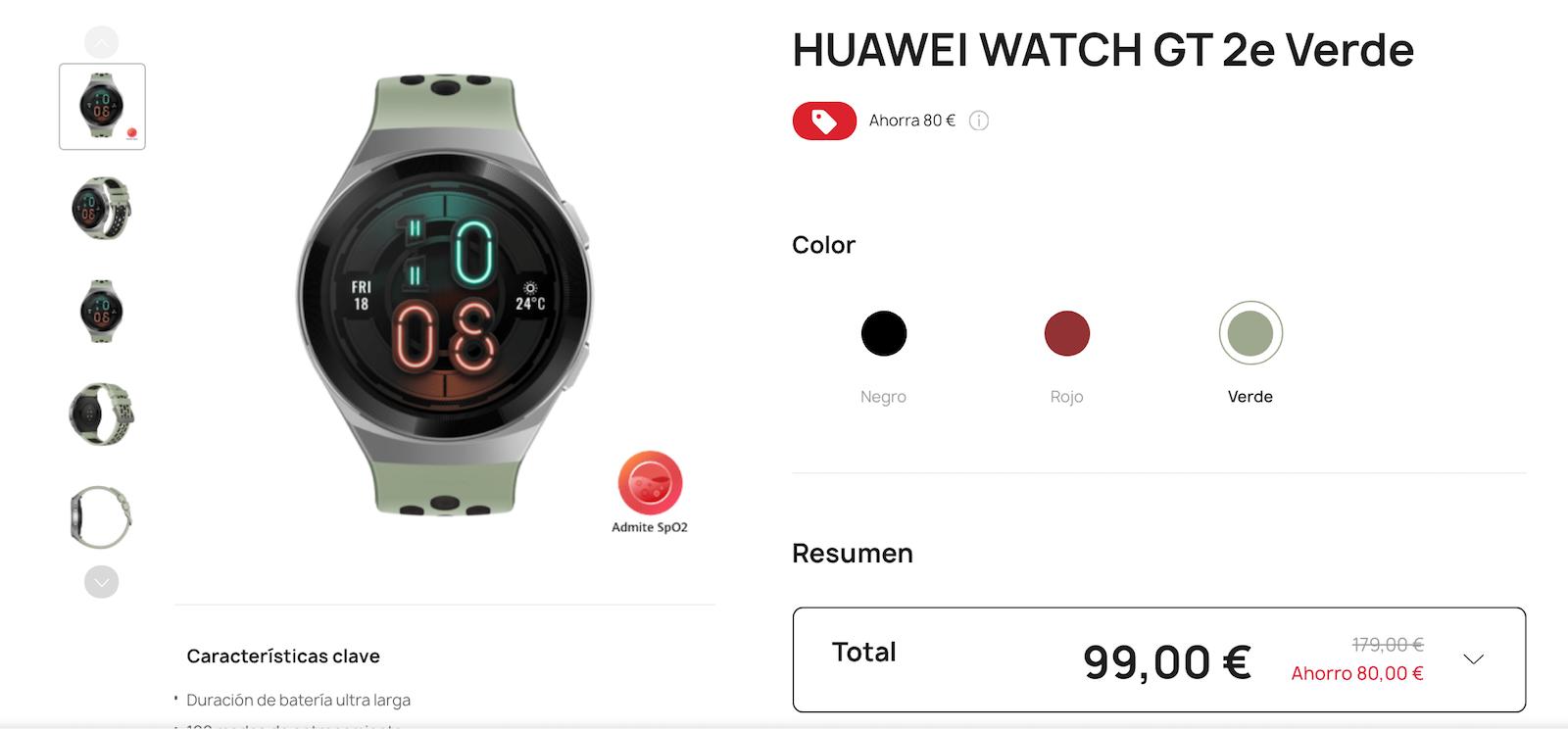 mejor reloj de huawei en oferta