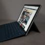 Microsoft Surface Pro 2017 vista de perfil con el teclado